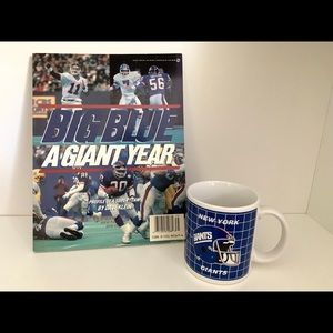 1987 Big Blue A Giant Year NFL Magazine Coffee Mug